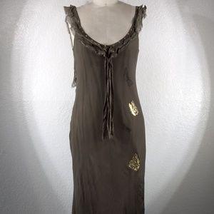 NWT Johnny Was 4LNL Butterfly Maxi Dress Sz M